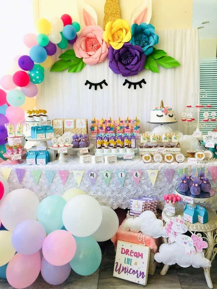 1 Birthday Decoration Ideas at Home Elegant Unicorns Party Birthday Party Ideas