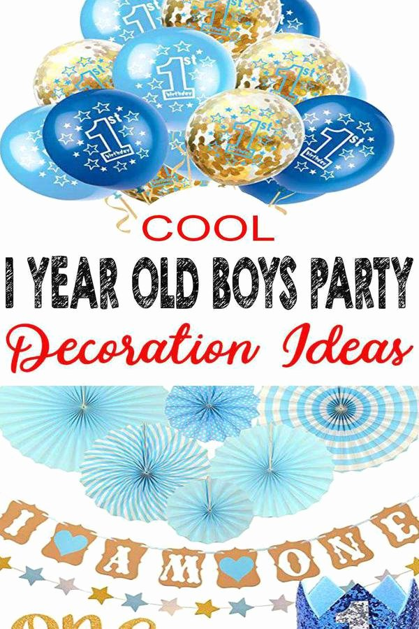 1 Birthday Decoration Ideas Fresh Best 1 Year Old Boys Party Decorations