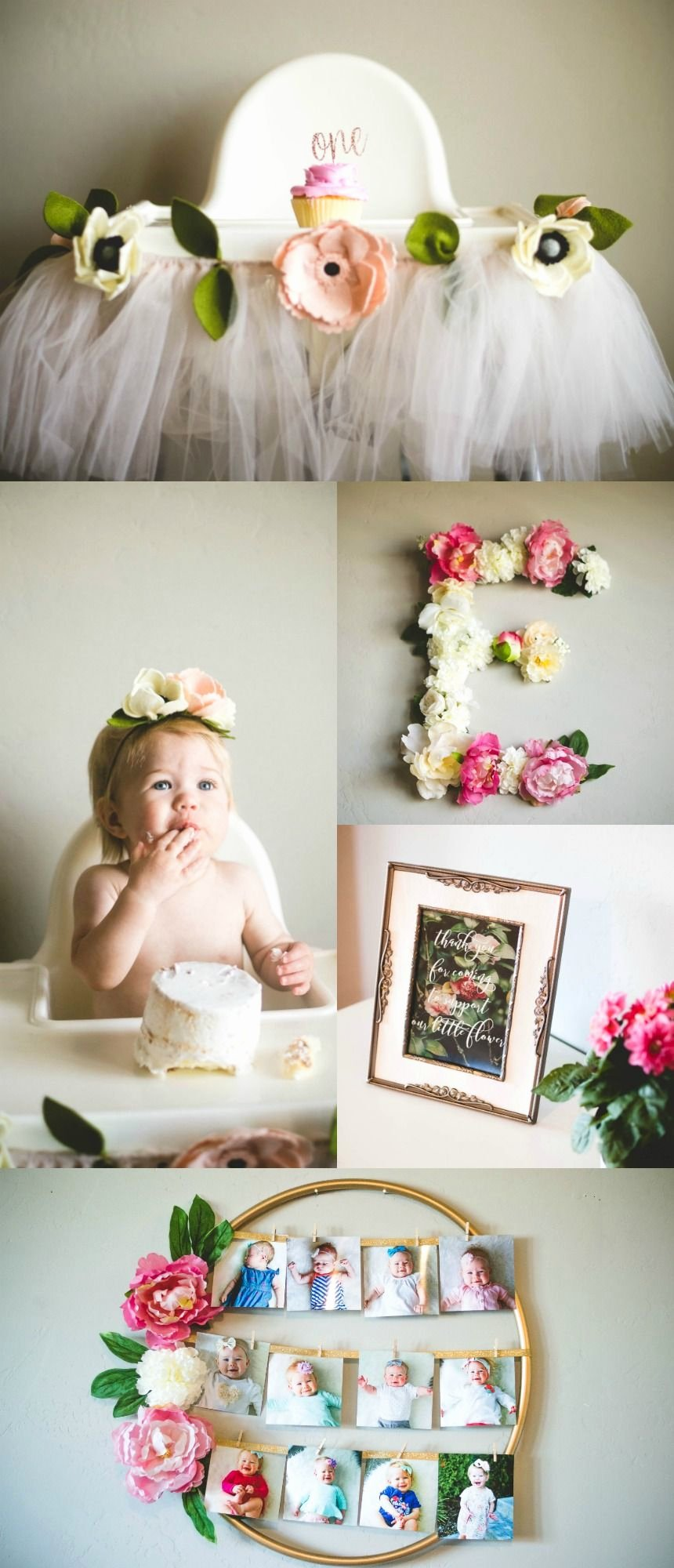 1 Year Birthday Decoration Ideas Beautiful Ella S Floral First Birthday Party Love Love Love