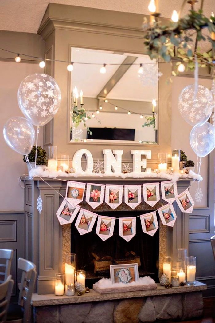 1 Year Birthday Decoration Ideas Lovely Winter Onederland First Birthday Party