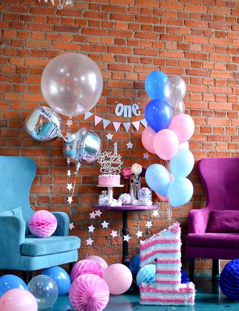 1 Year Birthday Decoration Ideas New Birthday Party for E Year Old with Red Brick Backdrop