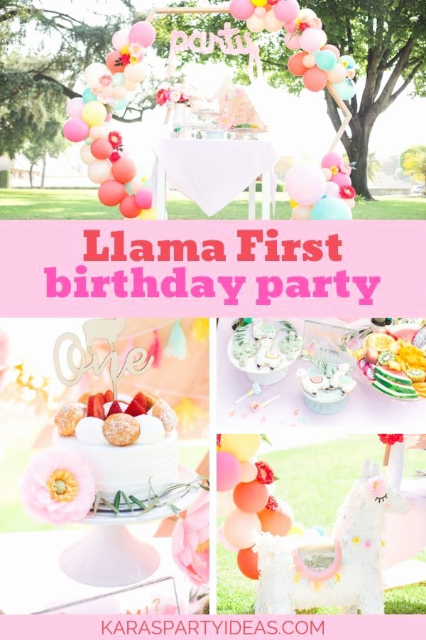 1 Year Old Birthday Decoration Ideas Beautiful Llama First Birthday Party Kara S Party Ideas