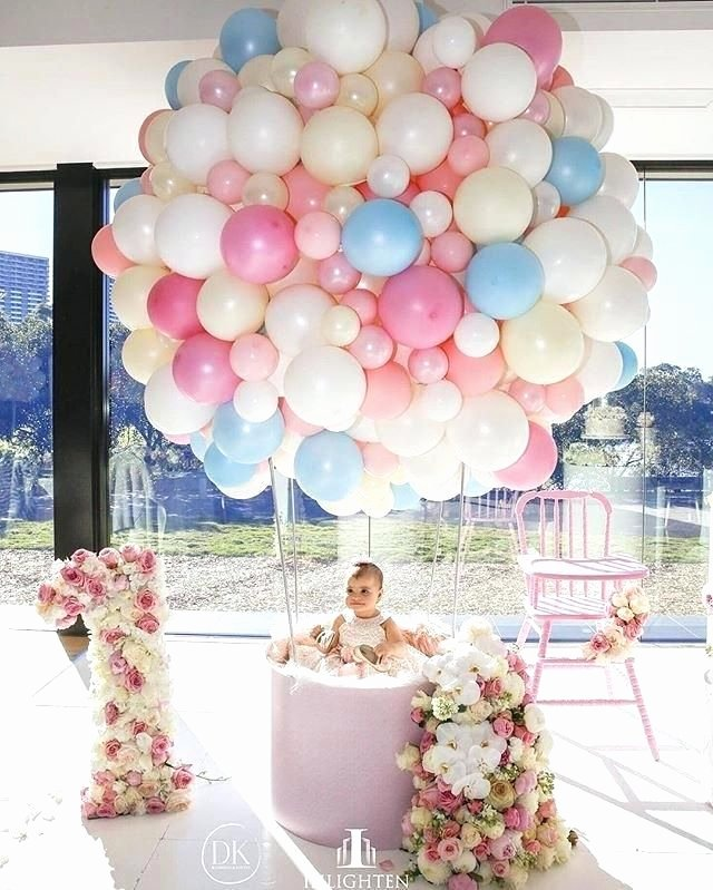 1 Year Old Birthday Decoration Ideas Elegant Best Birthday theme for 1 Year Old Baby Girl Balloons Ideas