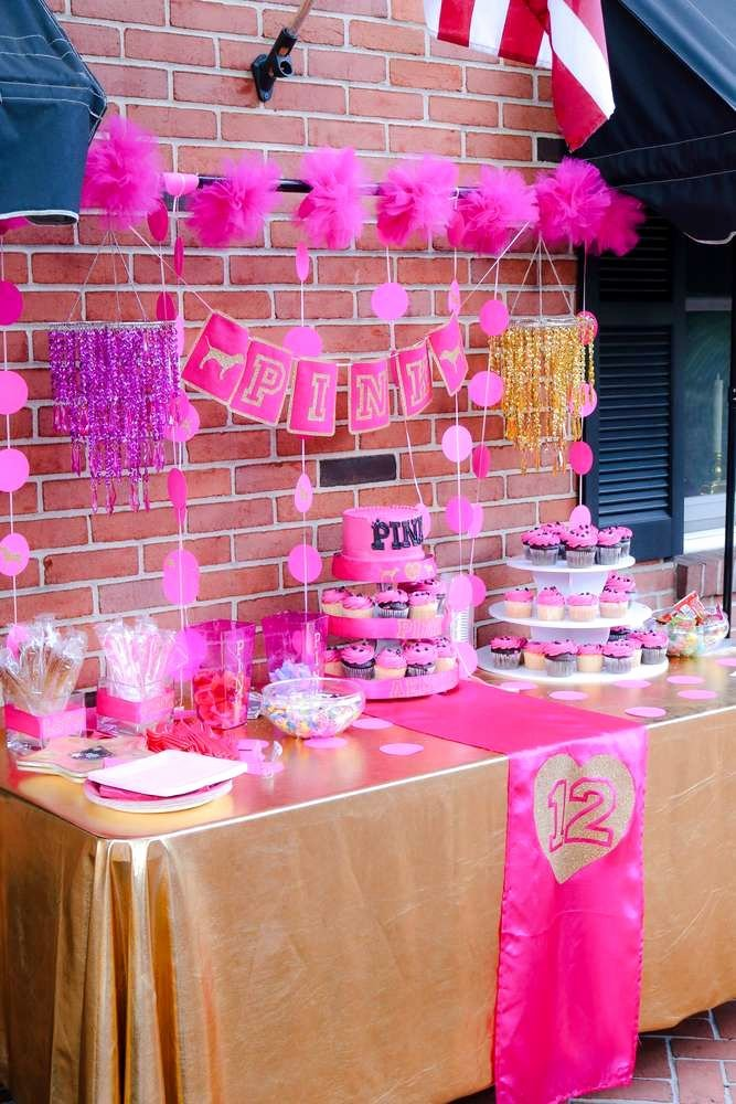 12th Birthday Decoration Ideas Best Of Pink Vs Birthday Birthday Party Ideas