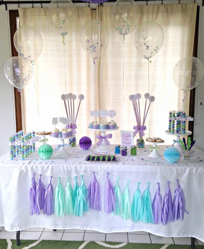 12th Birthday Decoration Ideas Elegant Confetti themed 12th Birthday Party