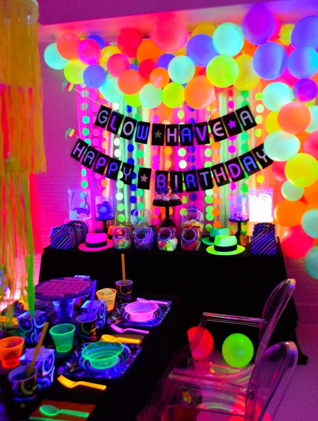 12th Birthday Decoration Ideas Fresh Glow In the Dark Party Ideas