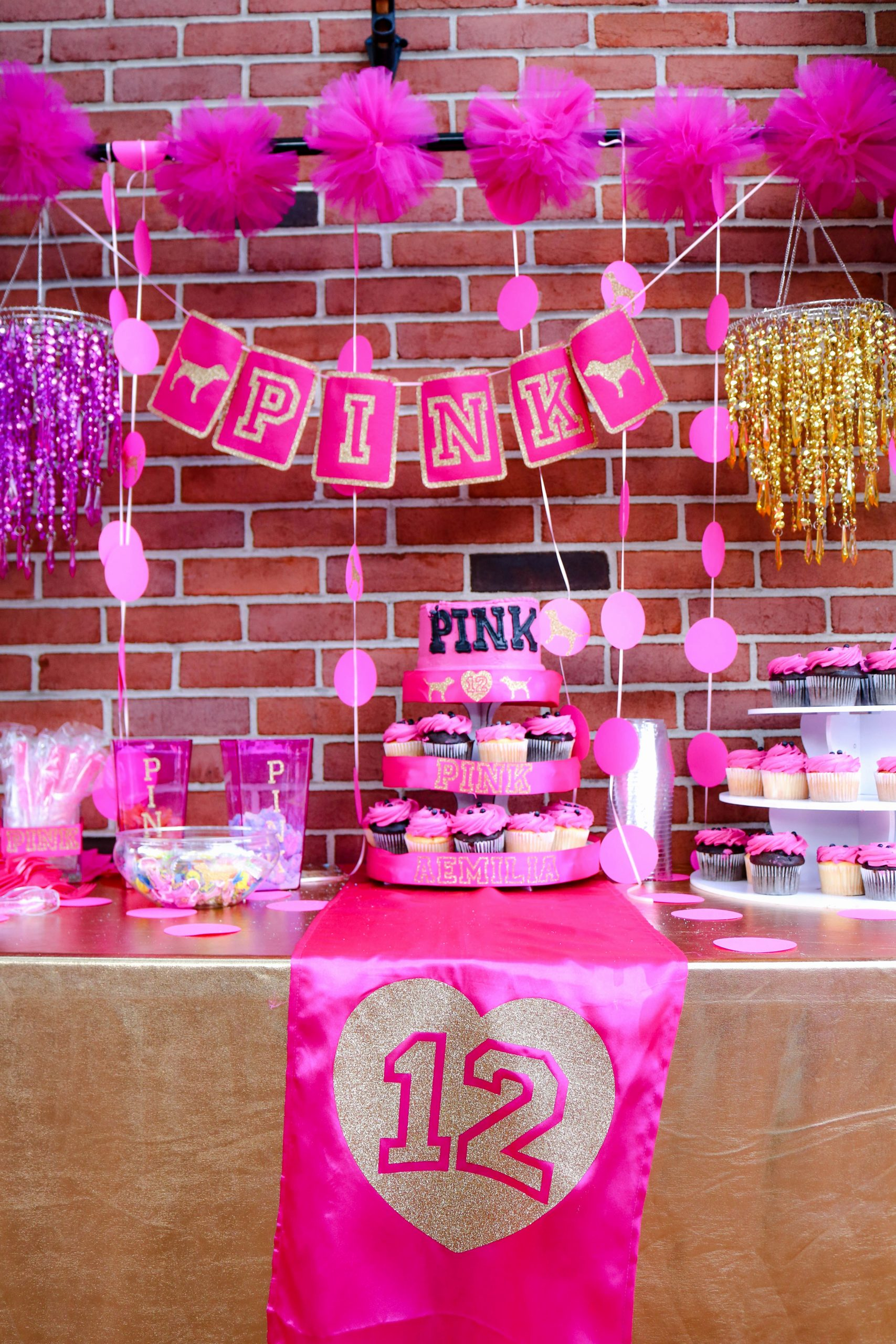 "12th Birthday Decoration Ideas Lovely Pink Vs Birthday Birthday ""aemilia S 12th Pink Birthday"