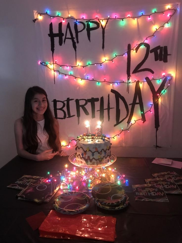 12th Birthday Decoration Ideas Lovely Stranger Things themed Birthday Party I Did for My