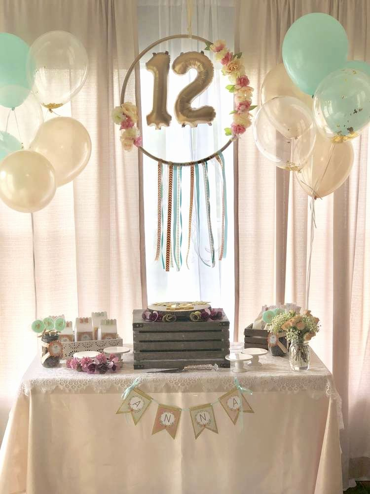 12th Birthday Decoration Ideas Luxury Boho Chic Birthday Party Ideas 1 Of 11