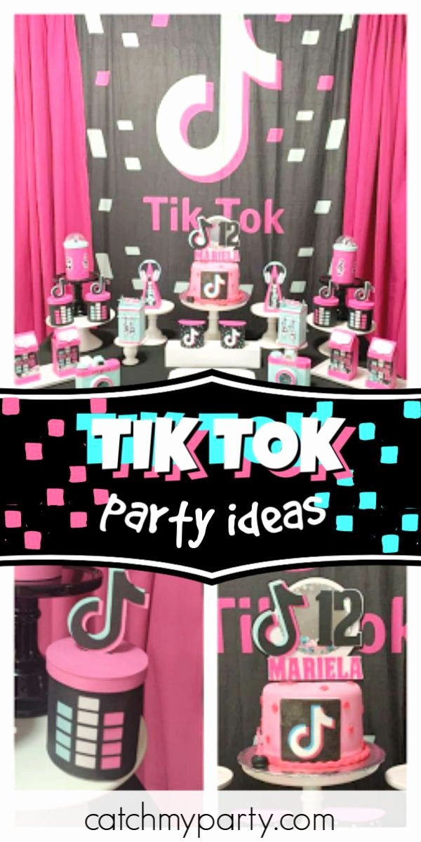 "12th Birthday Decoration Ideas Unique Tik tok Birthday ""mariela S 12 Tik tok Party """