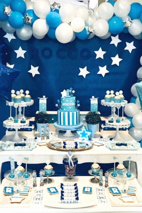 1st Birthday Decoration Ideas at Home for Boy Luxury Stars Birthday Party Ideas 1 Of 8 In 2020