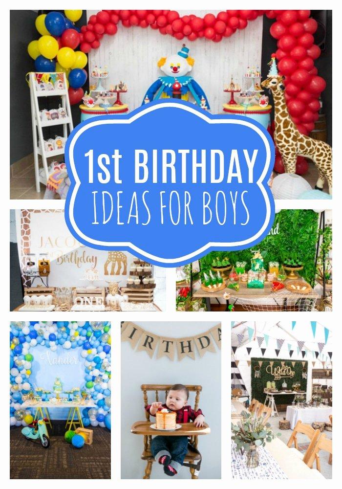 1st Birthday Decoration Ideas Boy Fresh 18 First Birthday Party Ideas for Boys Pretty My Party