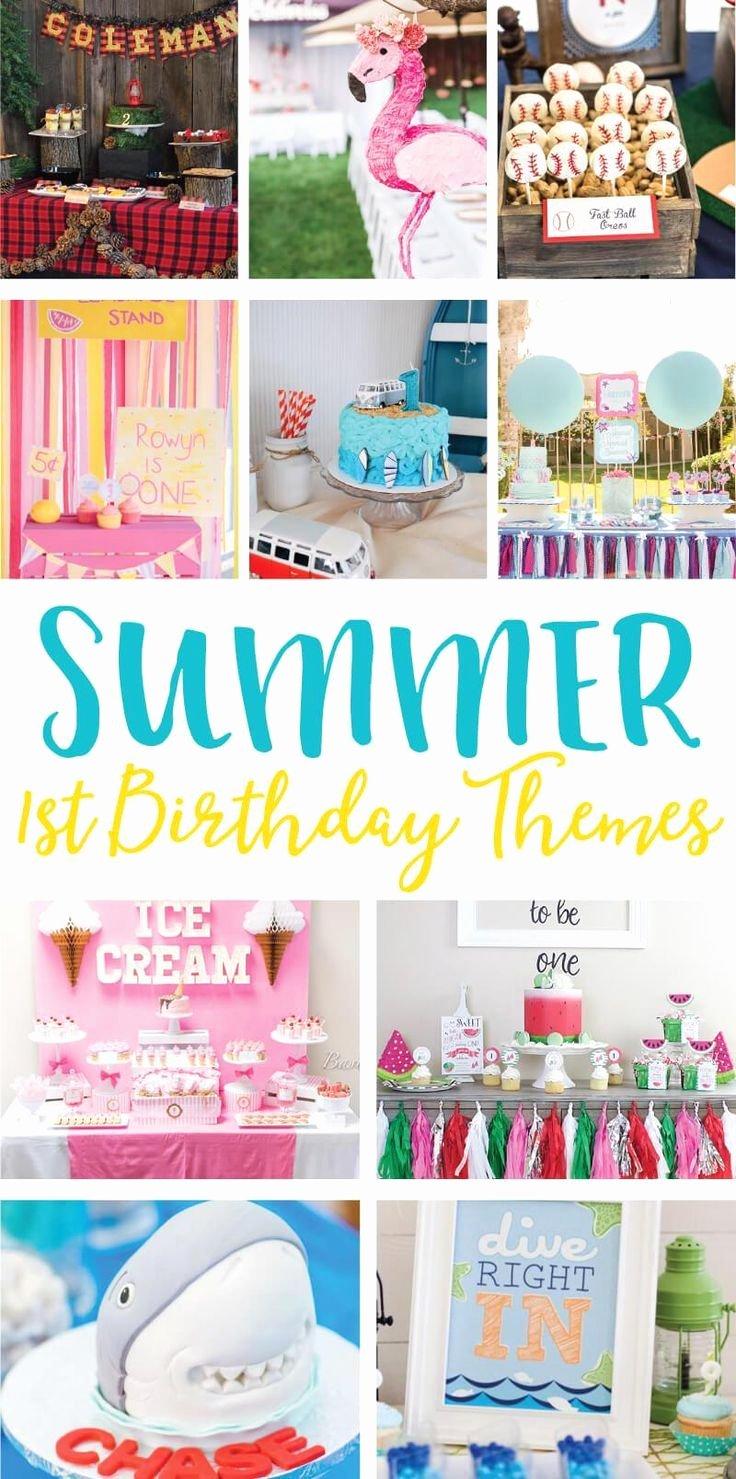 1st Birthday Decoration Ideas Boy Lovely Summer 1st Birthday Party Ideas