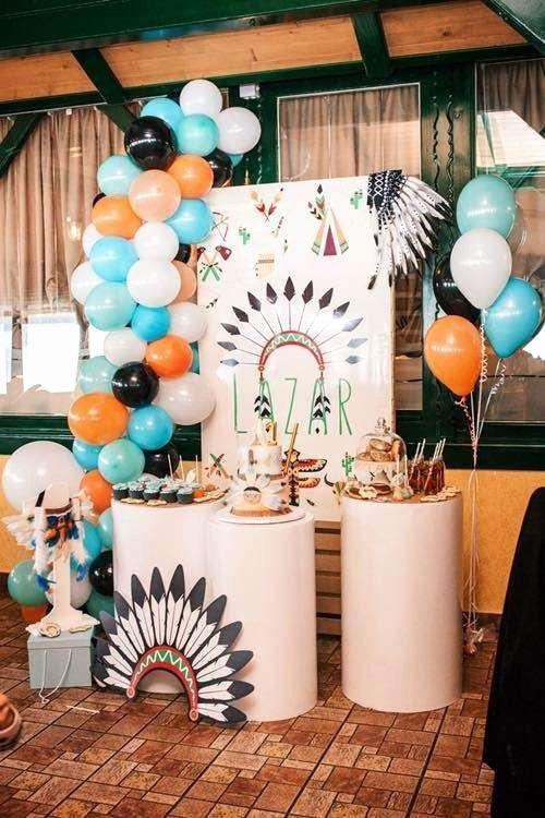 1st Birthday Decoration Ideas for Boy India Elegant Tribal Party Birthday Party Ideas