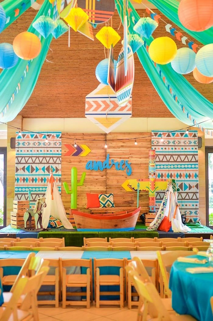 1st Birthday Decoration Ideas for Boy India Luxury Boho Tribal 1st Birthday Party