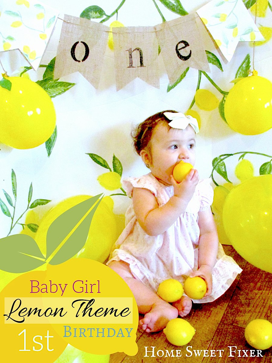 1st Birthday Decoration Ideas for Girl at Home Fresh Bud Friendly Lemon theme Baby Girl S First Birthday