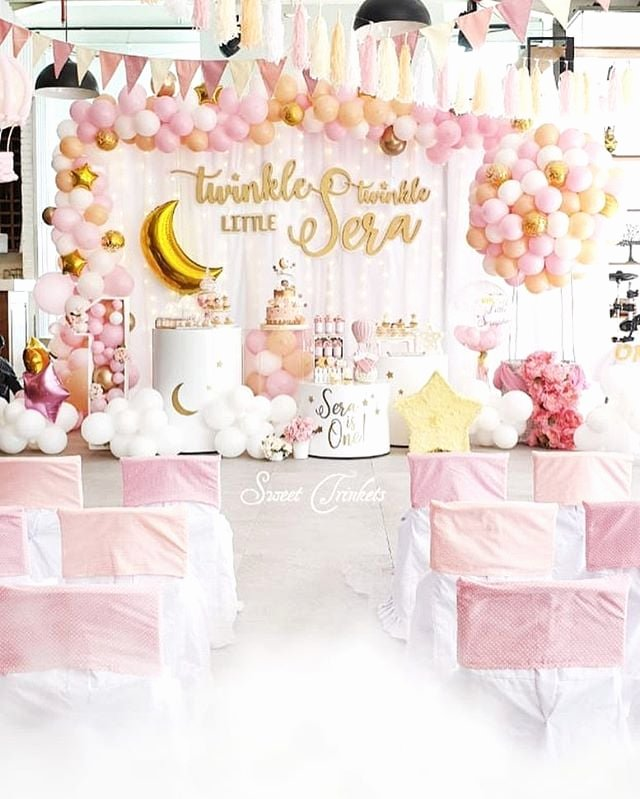 1st Birthday Decoration Ideas for Girl at Home New Creative First Birthday Party Ideas