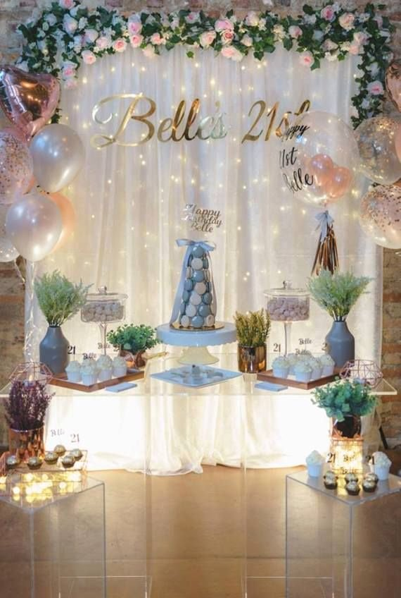 21st Birthday Decoration Ideas for Boy Fresh Elegant & Glam 21st Birthday