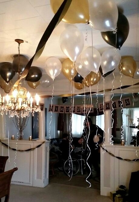 21st Birthday Decoration Ideas for Boy Inspirational Black Gold and White 21st Birthday Party