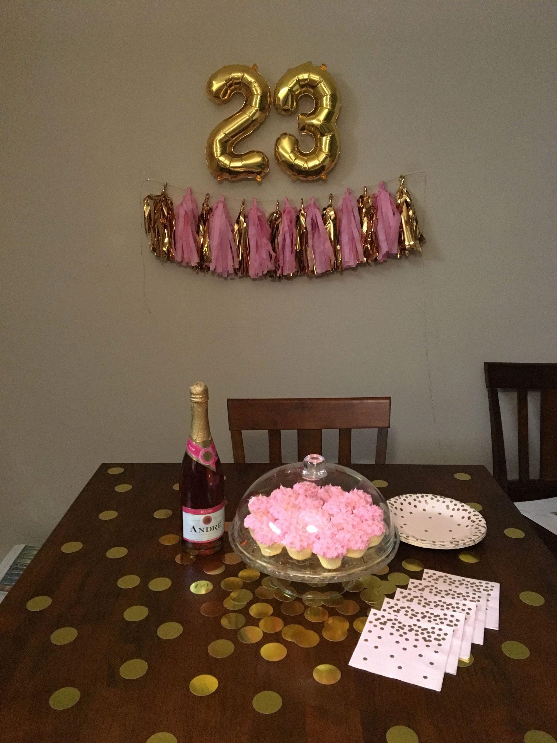 23rd Birthday Decoration Ideas Luxury 23rd Birthday Decor Pink & Gold