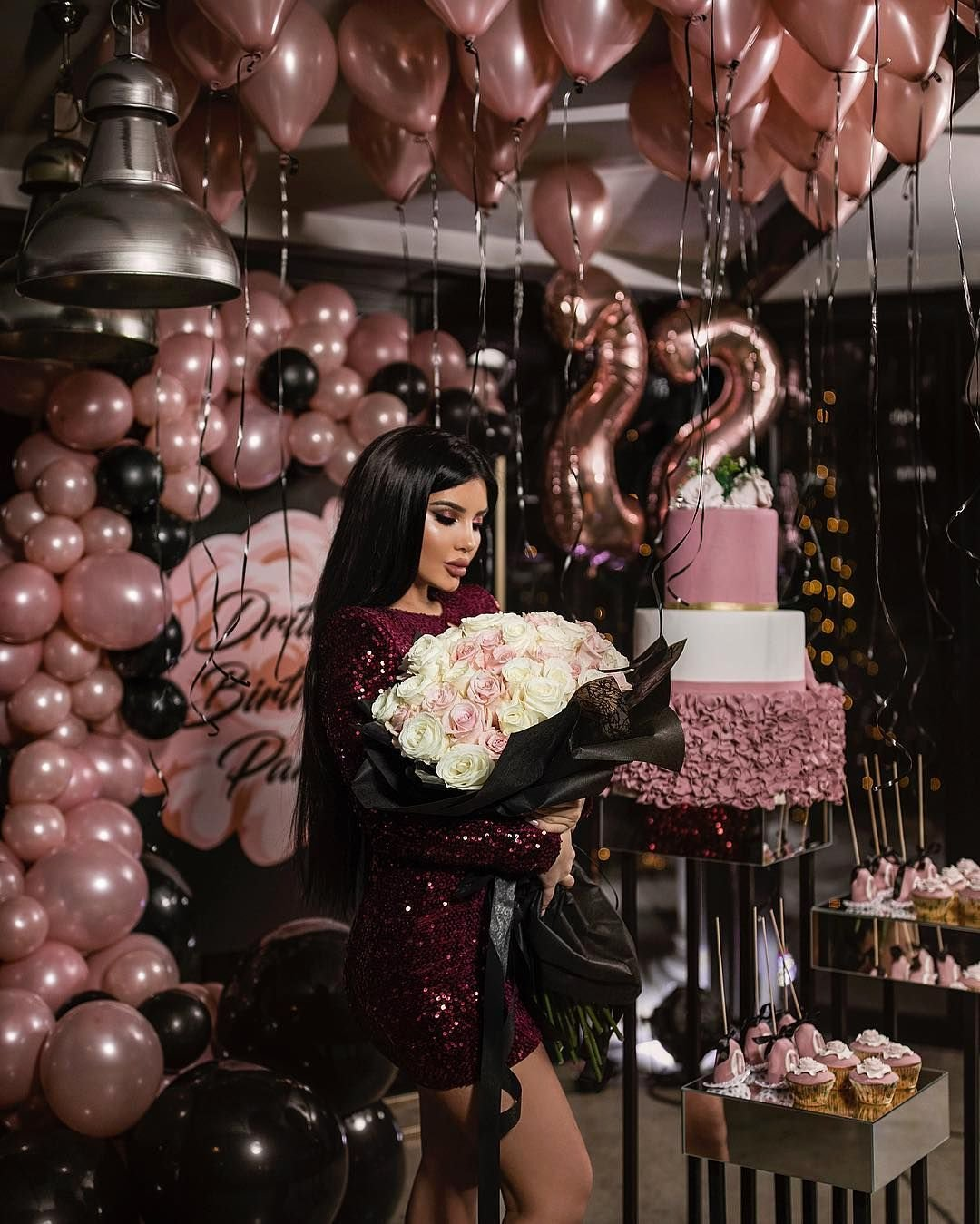 "27th Birthday Decoration Ideas New Drita Stublla On Instagram ""22🎀🎉"""