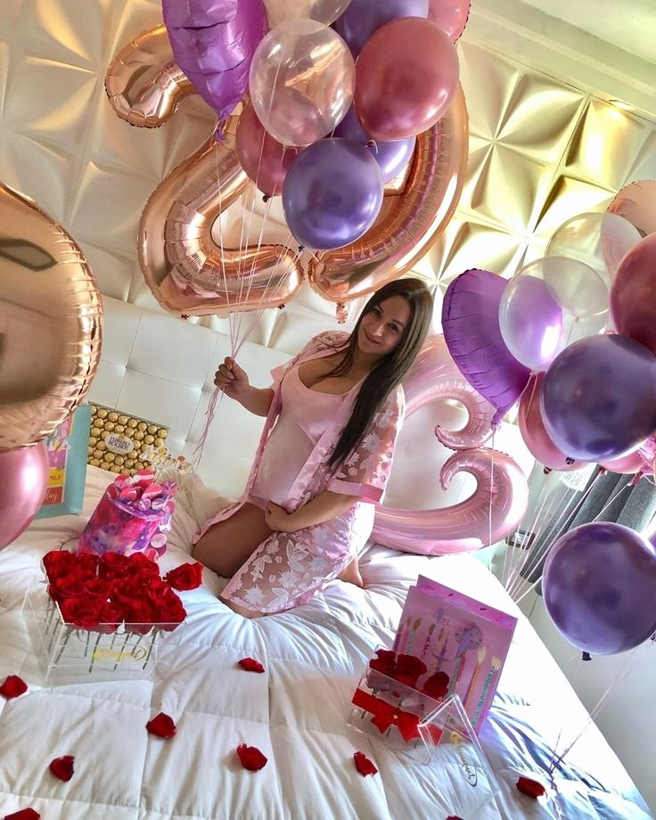27th Birthday Decoration Ideas Unique Giant Rose Gold Number Balloons for Birthday Custom