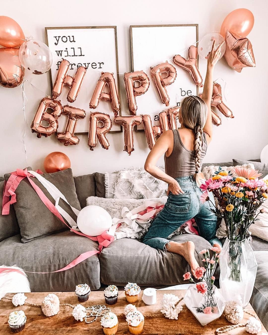 28th Birthday Decoration Ideas Awesome Rose Gold Happy Birthday Decoration Set 21st Birthday Party