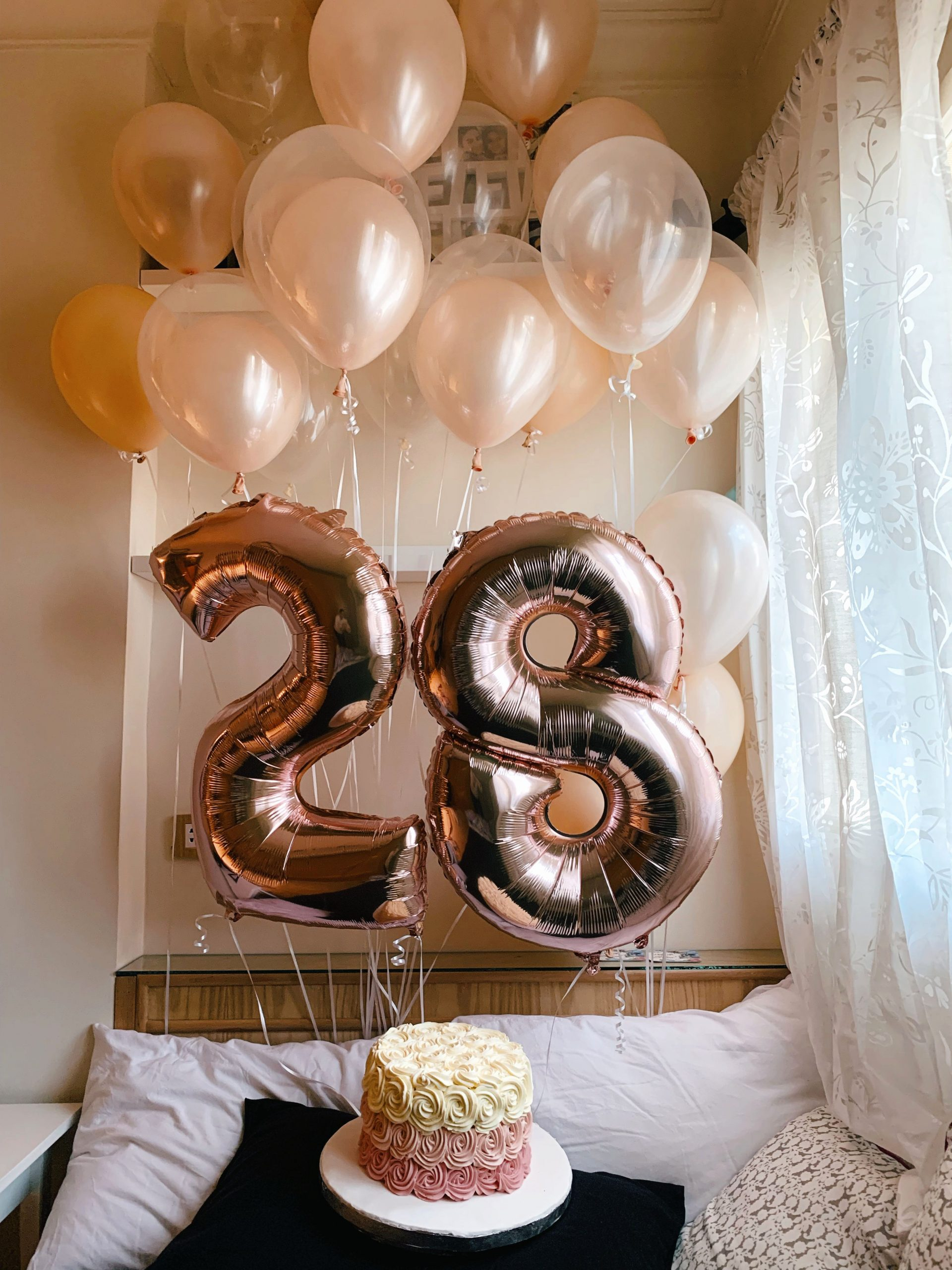 28th Birthday Decoration Ideas New 28 Balloons