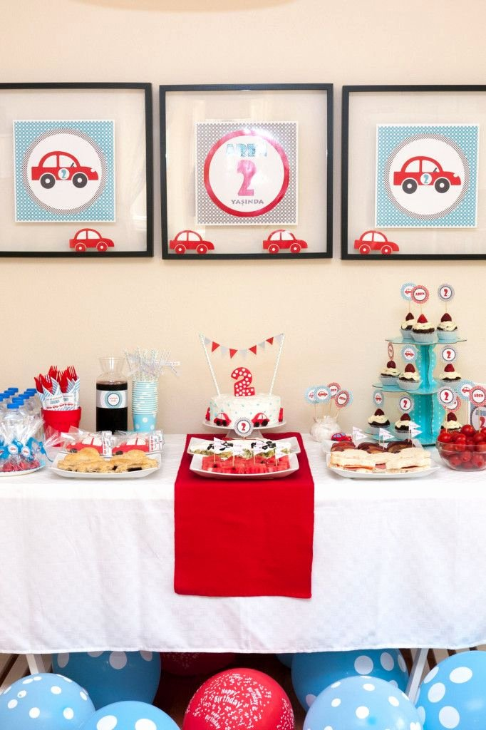 2nd Birthday Decoration Ideas at Home Beautiful Cars themed 2nd Birthday Party for aren