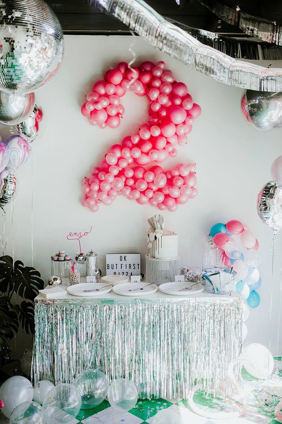 2nd Birthday Decoration Ideas at Home Elegant Disco Pizza Party 2nd Birthday Kids Party Ideas