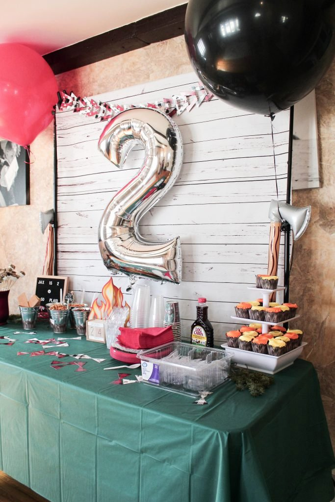 2nd Birthday Decoration Ideas at Home Elegant Lumberjack Bash Party Ideas Slay at Home Mother