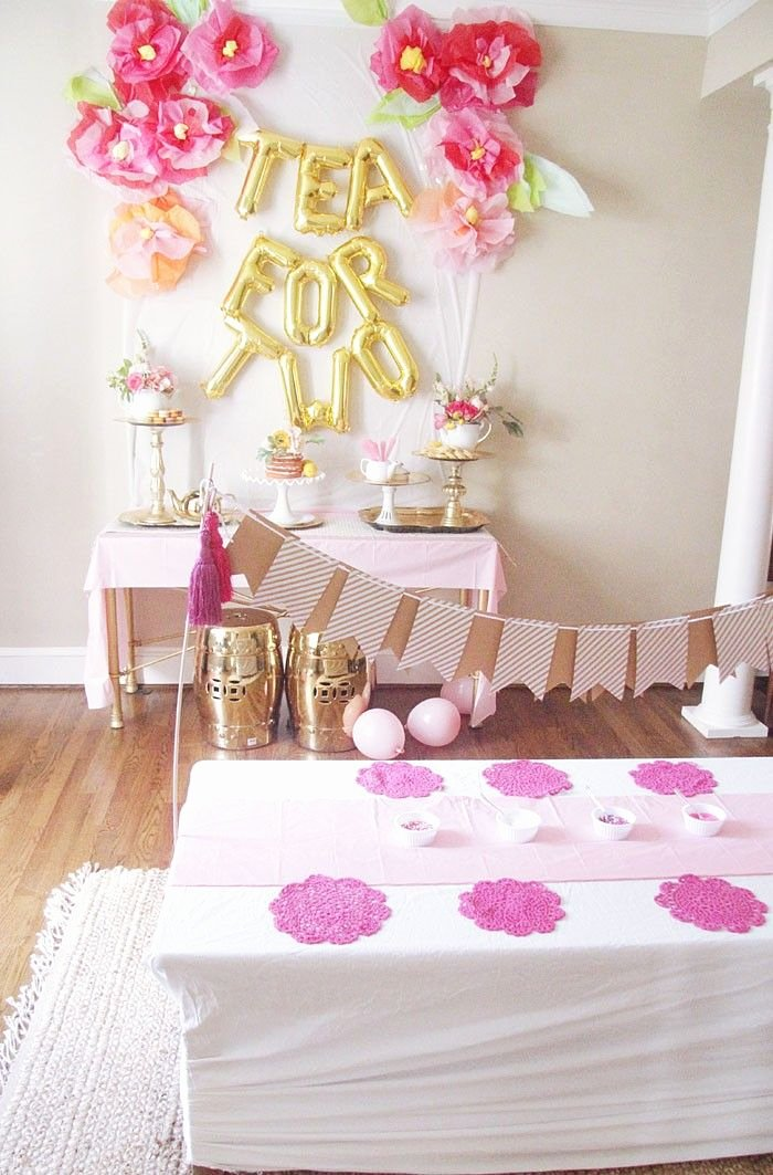 2nd Birthday Decoration Ideas at Home for Girl Lovely Tea for 2 Birthday Party Ideas Home