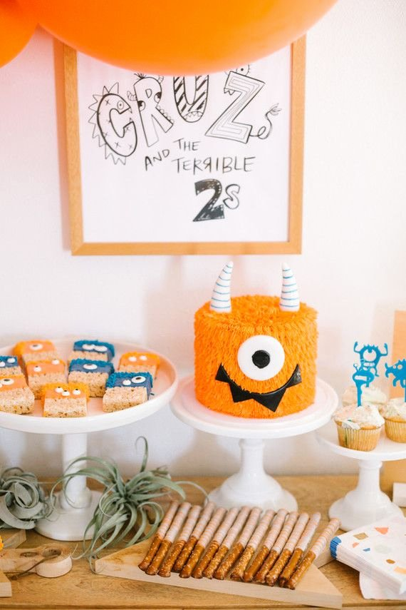 2nd Birthday Decoration Ideas for Boy Best Of Terrible Twos Monster themed Second Birthday