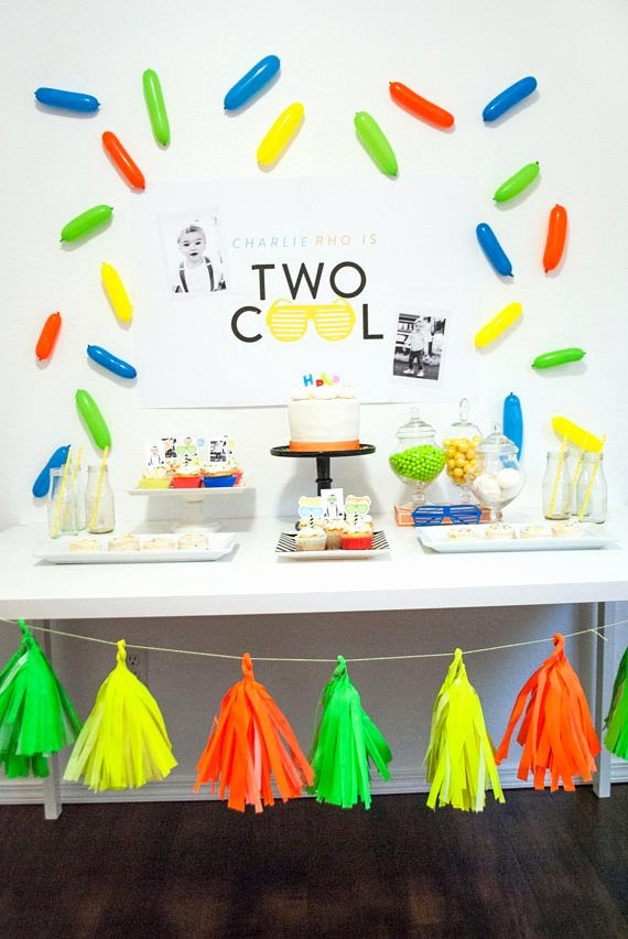 2nd Birthday Decoration Ideas for Boy Unique Two Cool Birthday Party by Itsy Belle Studio Boy 2nd