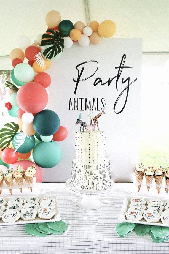 2nd Birthday Decoration Ideas Unique Modern Party Animal Birthday Party