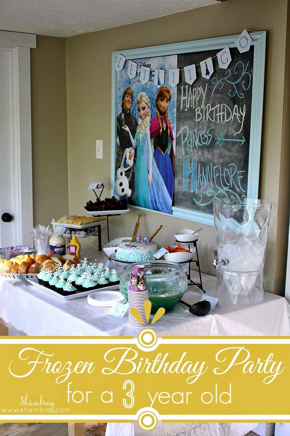 3 Year Old Birthday Decoration Ideas Beautiful A Frozen Birthday Party for A 3 Year Old