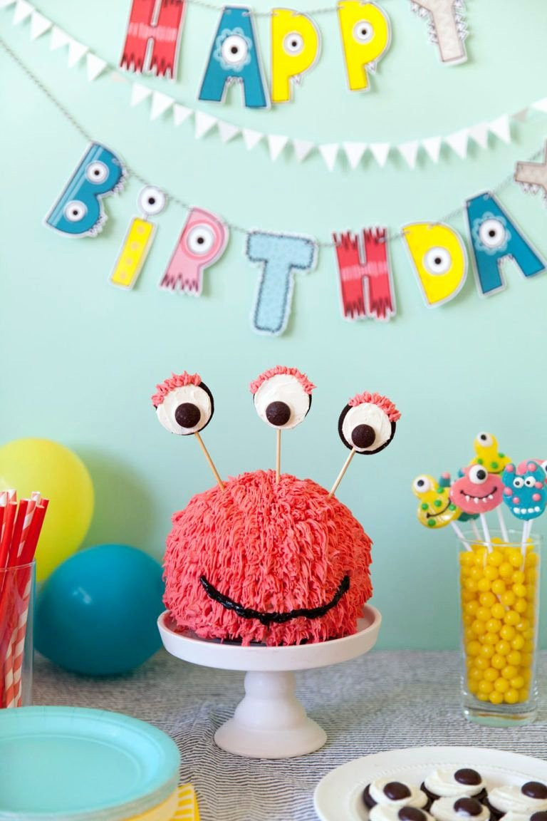 3 Year Old Birthday Decoration Ideas Best Of Monster Birthday Party Tell Love and Party