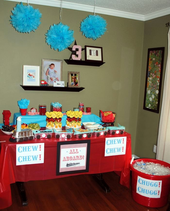3 Year Old Birthday Decoration Ideas Best Of Pin by Kaitlyn Hunt On Chugga Chugga Two Two