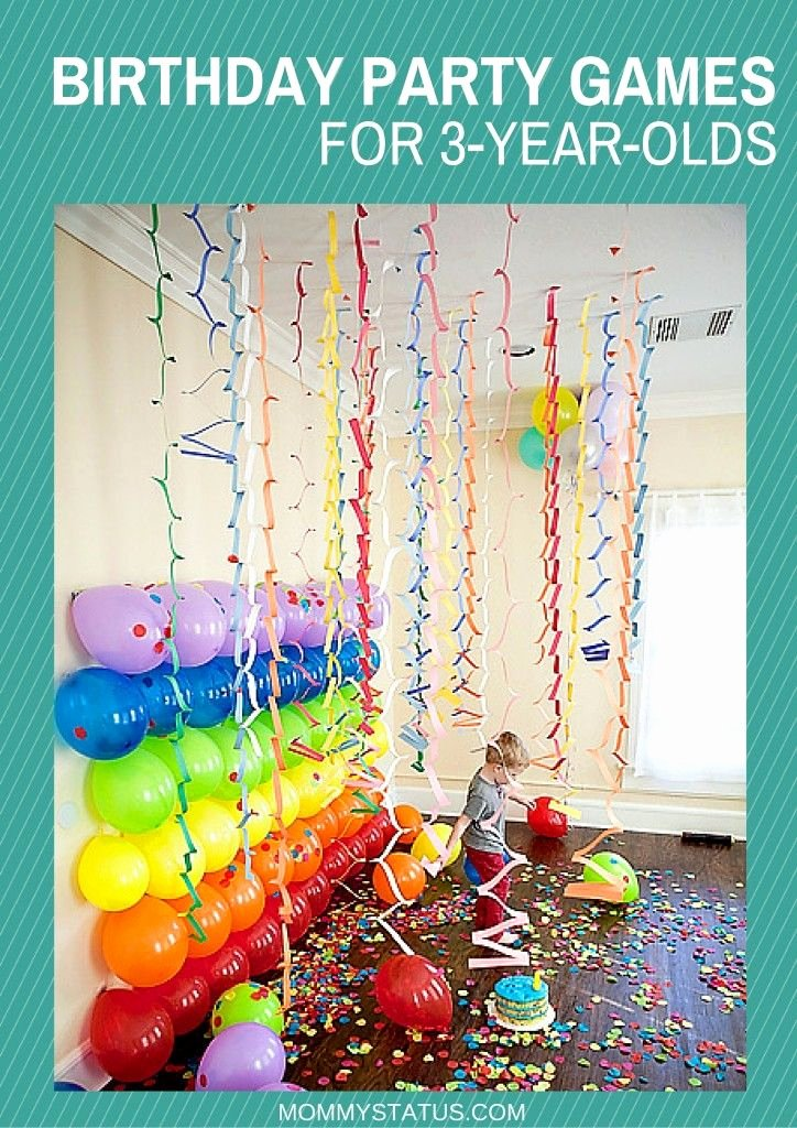 3 Year Old Birthday Decoration Ideas Elegant Birthday Party Games for 3 Year Olds Mommy Status
