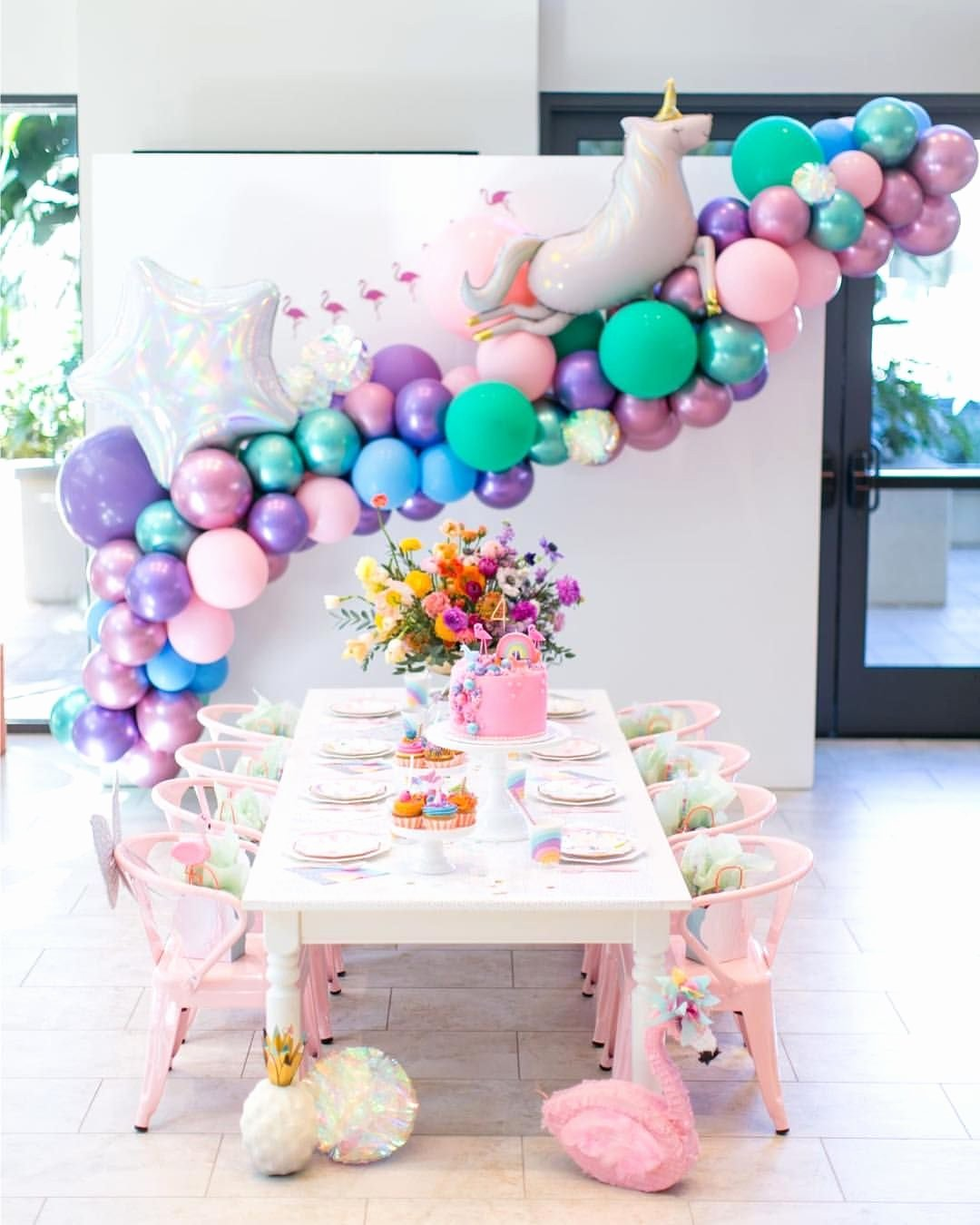 3 Year Old Birthday Decoration Ideas Lovely This Unicorn Party is Basically Every Little Girls Dream