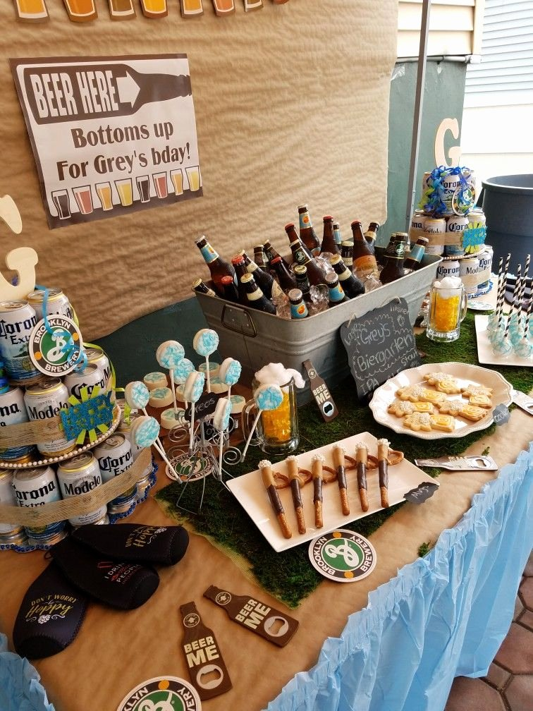 30th Birthday Decoration Ideas for Husband New Pin by Mariana Chang On Beer themed Birthday Party