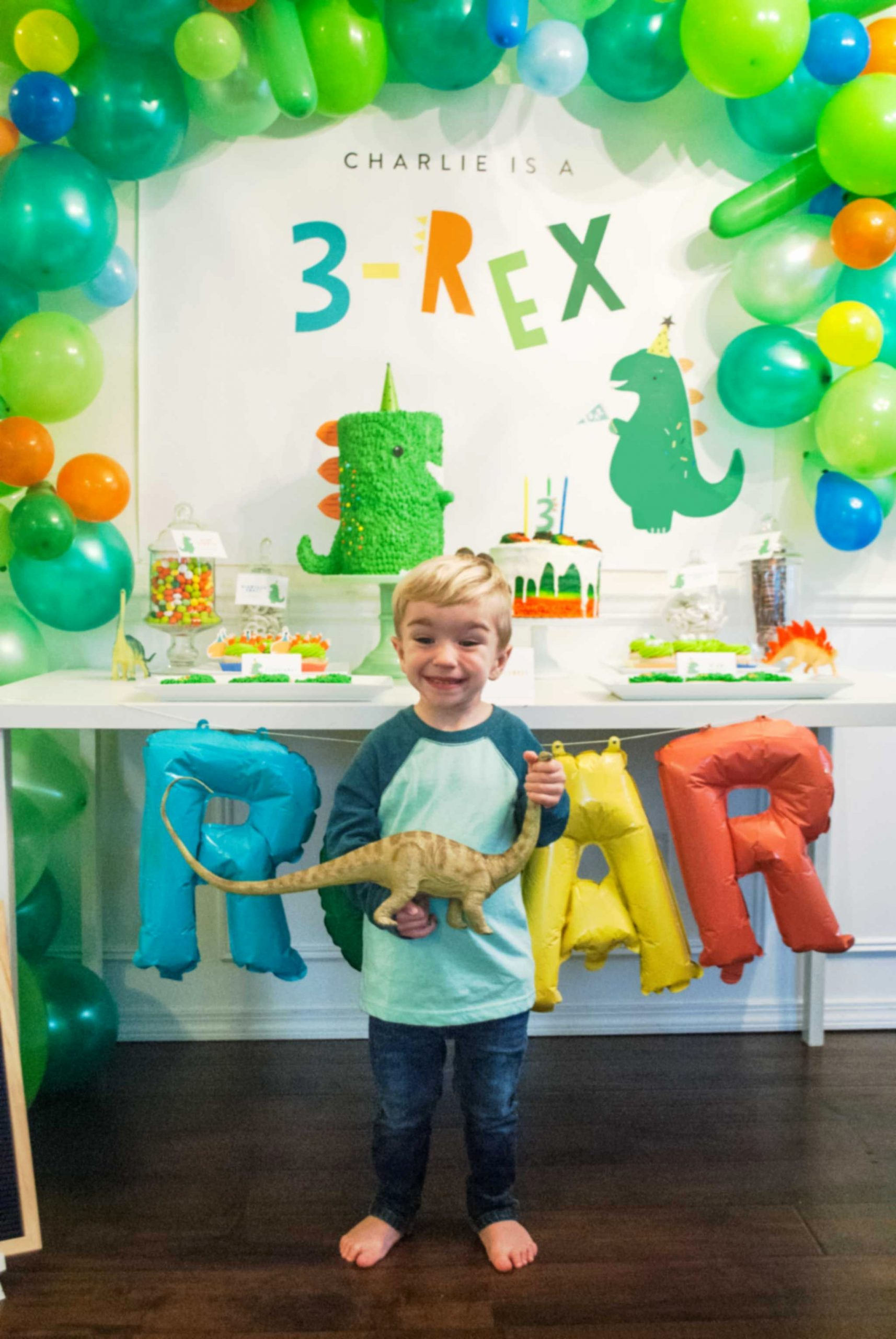 3rd Birthday Decoration Ideas Awesome This 3 Rex Birthday Party is A Roaring Good Time Project