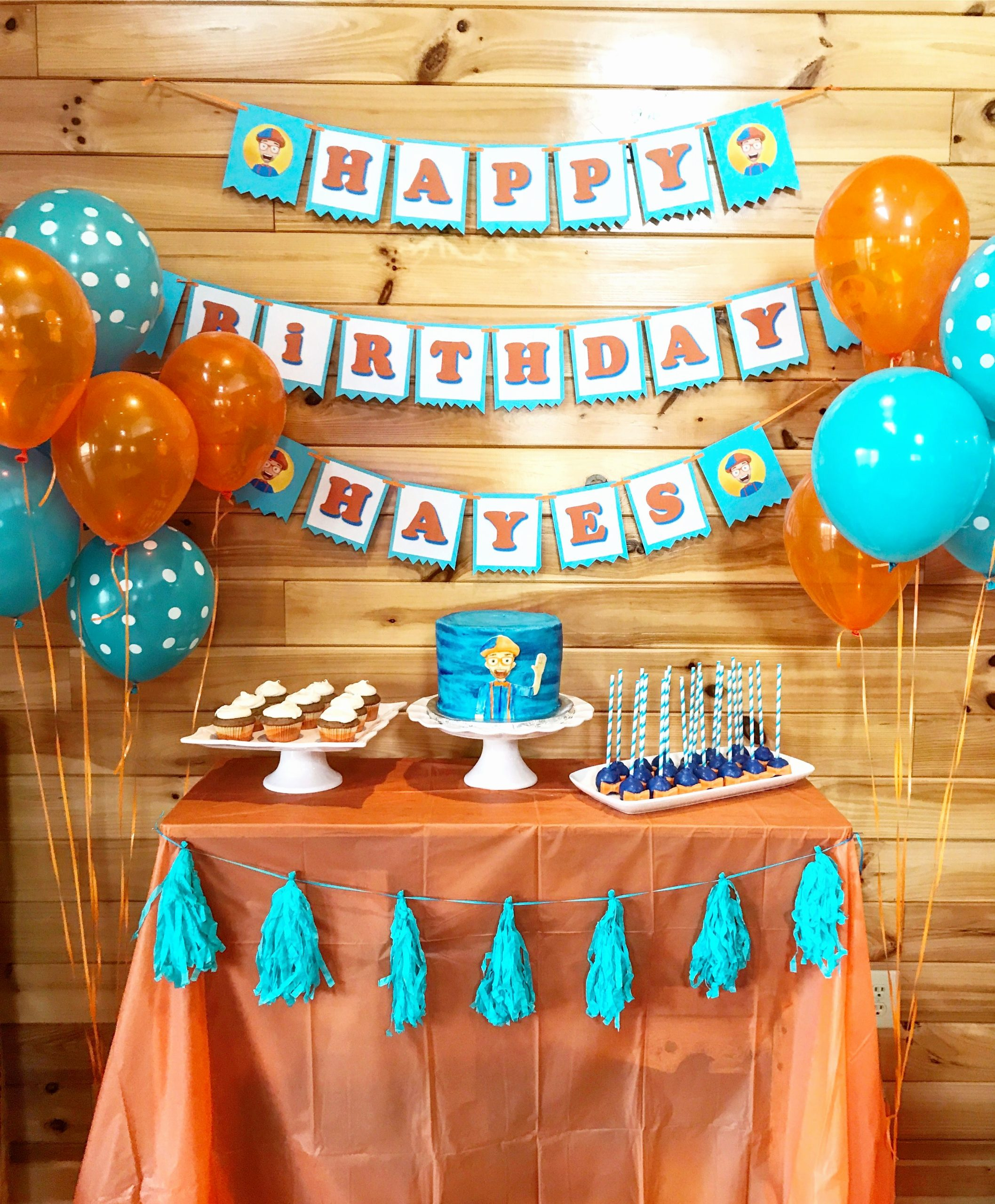 3rd Birthday Decoration Ideas for Boy Lovely Blippi Birthday Party toddler Birthday Party 3rd Birthday
