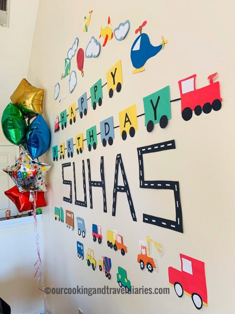 3rd Birthday Decoration Ideas for Boy Unique Transportation theme Kids Birthday Party Decoration Ideas