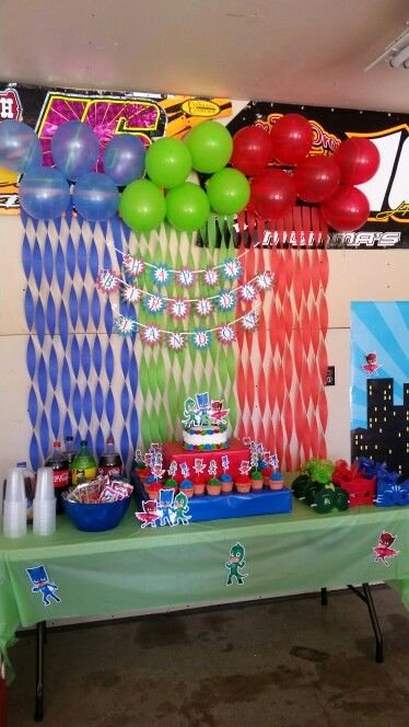 4th Birthday Decoration Ideas Awesome Pj Mask Party