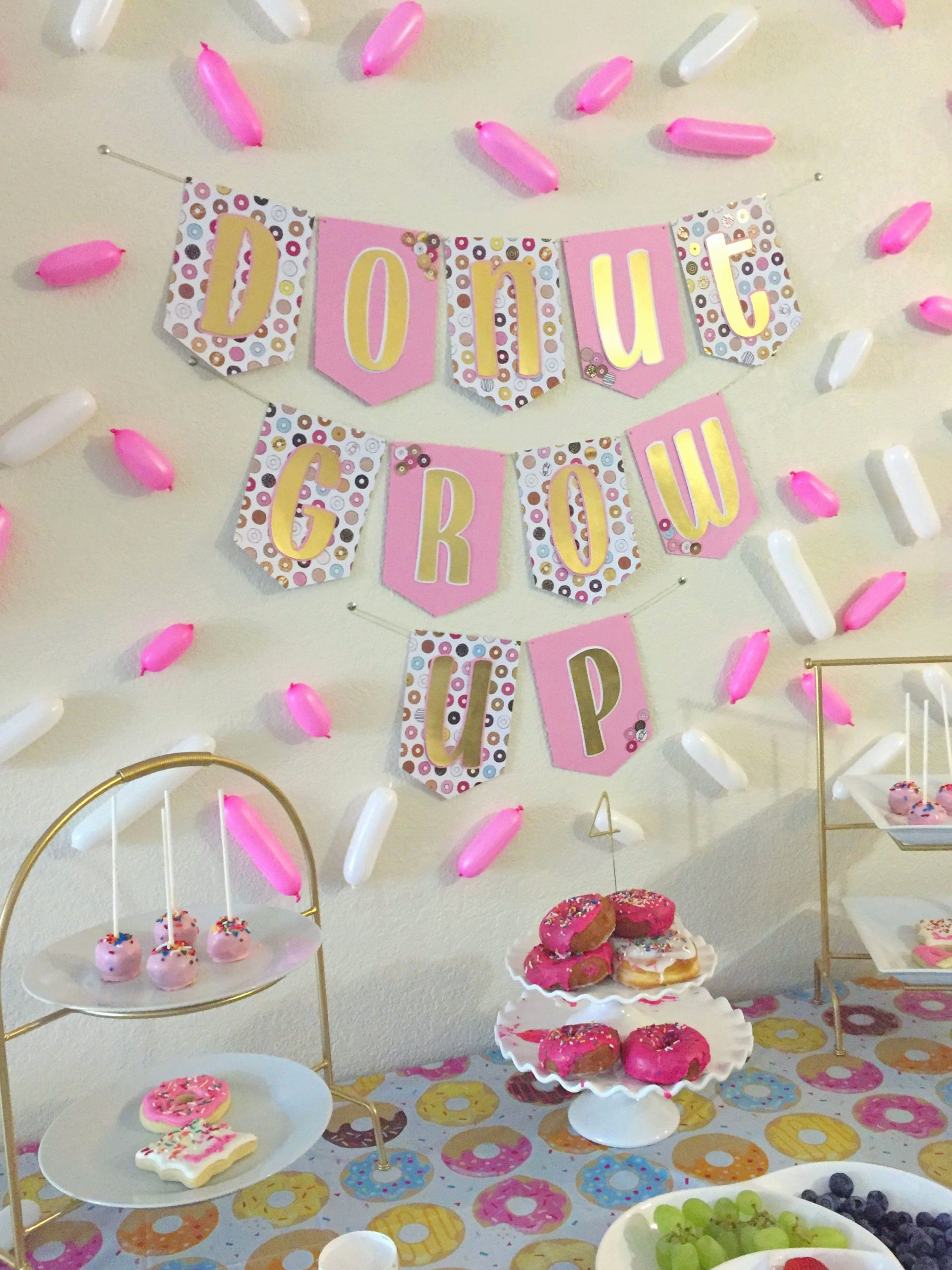 4th Birthday Decoration Ideas Best Of Layla S Donut Grow Up 4th Birthday Party Project Nursery