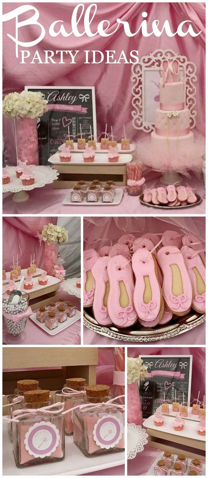 "4th Birthday Decoration Ideas Elegant Ballerina Birthday ""ashley S 4th Birthday"""