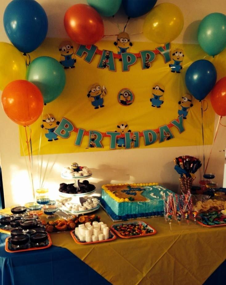 4th Birthday Decoration Ideas for Boy Beautiful Minions Birthday Party Ideas