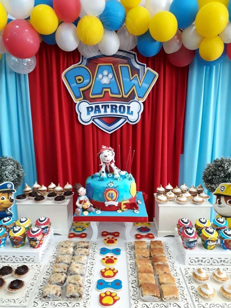 4th Birthday Decoration Ideas for Boy Inspirational 4 Th Years Paw Patrol Joaquin Birthday Party Ideas