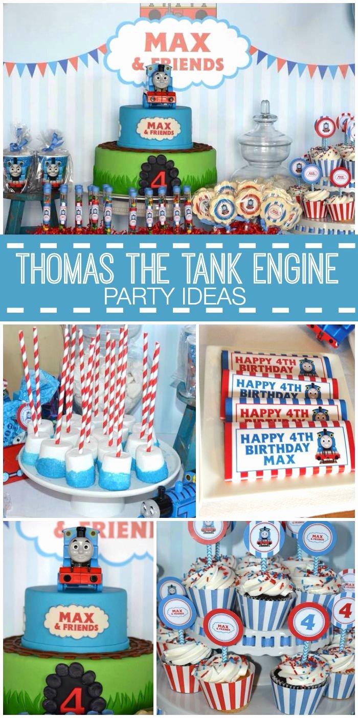 """4th Birthday Decoration Ideas for Boy Luxury Thomas the Train Birthday """"max & Friends 4th Birthday"""